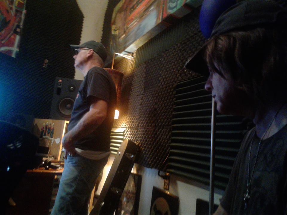 Mike Albert & Chris Poland in the studio.